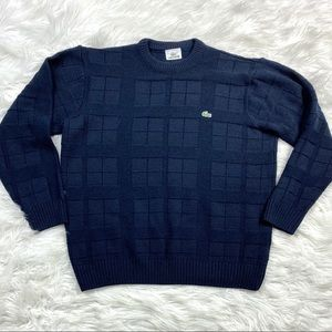 Vintage Lacoste Sweater Navy Blue L XL